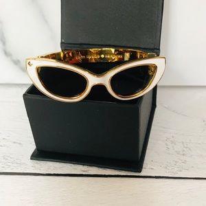 Kate Spade White Enamel Glasses Bracelet